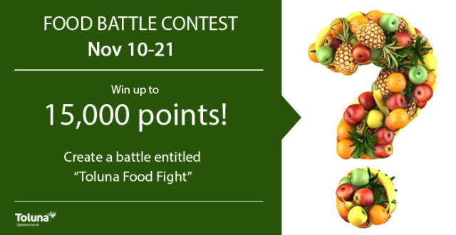 food battle contest template