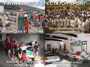 X FAITH IS NOT A SPECTATOR SPORT