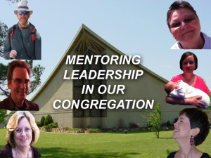 X METNORING LEADERSHIP IN OUR CONGREGATION